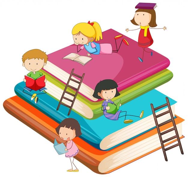 Crianças com o livro
