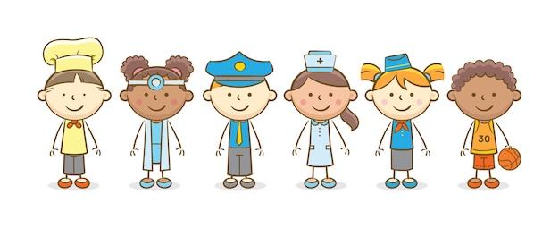 Crianças com profissão