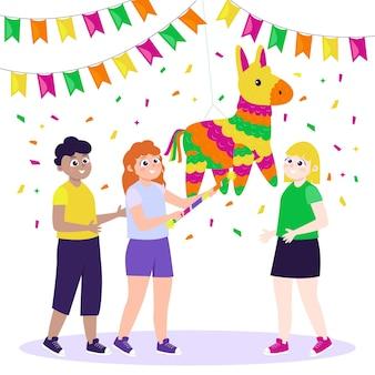 Crianças comemorando pousada