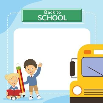 Crianças de desenho animado de volta à escola
