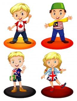 Crianças de diferentes países
