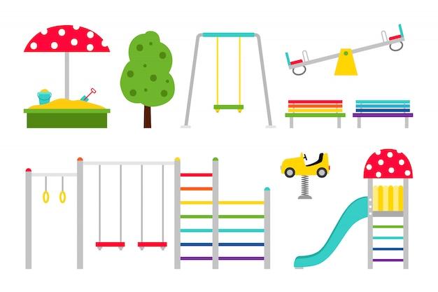 Crianças de equipamentos de playground