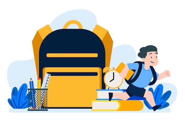 Crianças de volta à escola