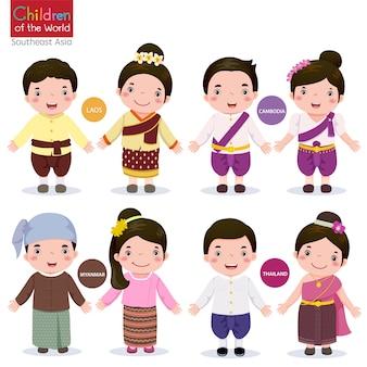 Crianças do mundo laos camboja mianmar e tailândia