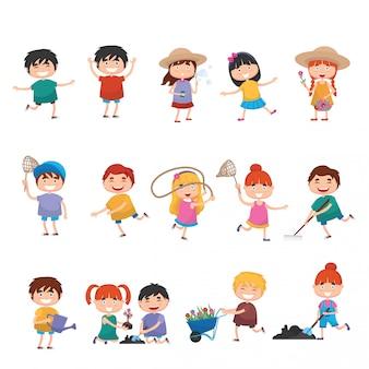 Crianças dos desenhos animados