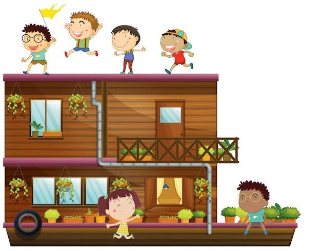 Crianças e barco