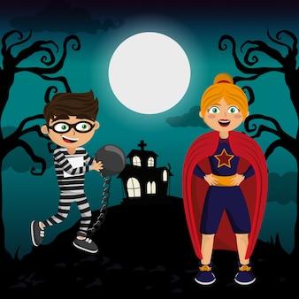 Crianças e dia das bruxas