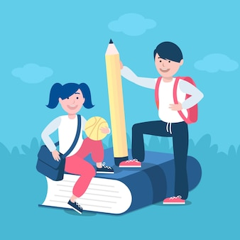 Crianças e educação volta ao conceito de escola