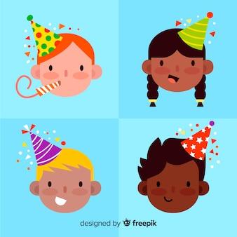 Crianças, em, aniversários, cobrança