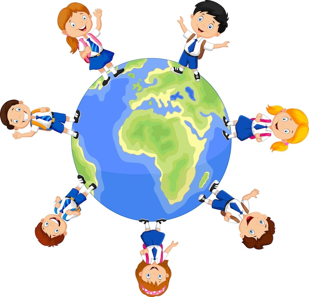 Crianças em idade escolar ao redor do globo