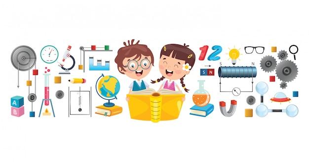 Crianças em idade escolar aprendendo