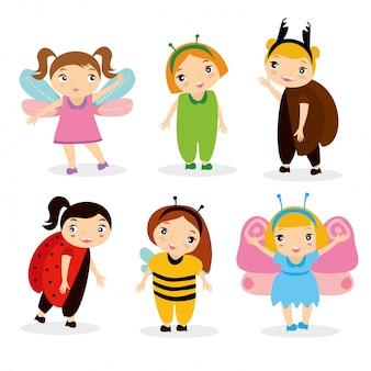 Crianças em traje