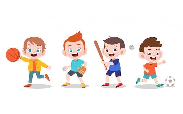 Crianças esporte ilustração