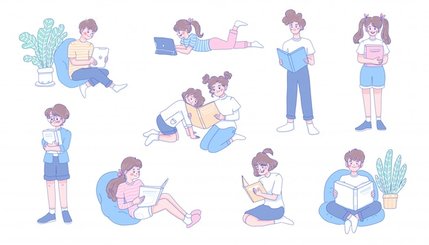 Crianças estudam em casa