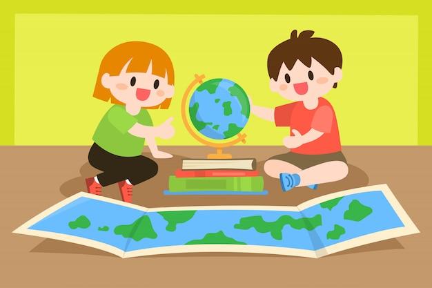 Crianças, estudar
