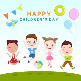 Crianças felizes é dia