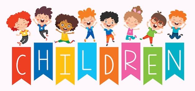 Crianças felizes e multiétnicas brincando juntas