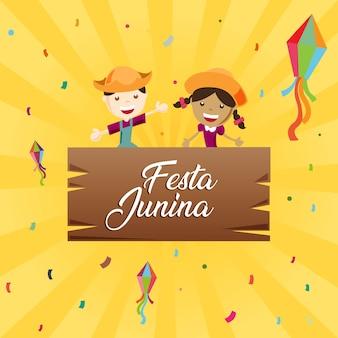 Crianças festa junina