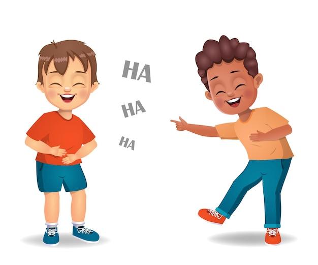 Crianças fofas rindo juntas