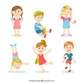 Crianças ilustração colorida