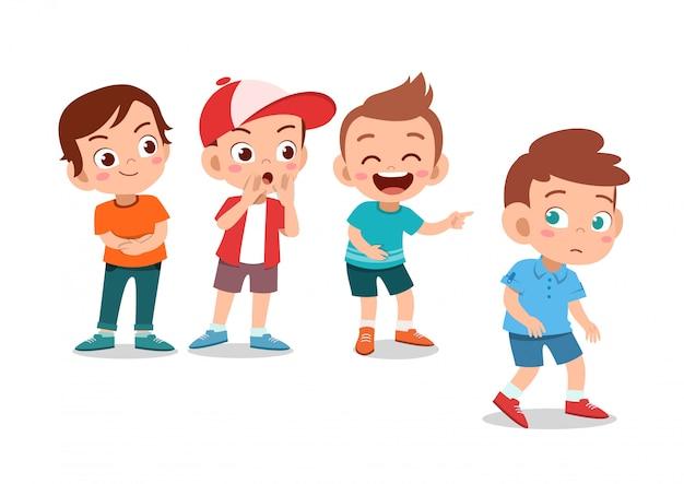 Crianças intimidar amigo
