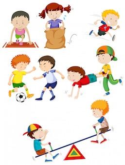Crianças jovens e atividade