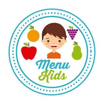Crianças menu design, ilustração de vetor eps10 gráfico