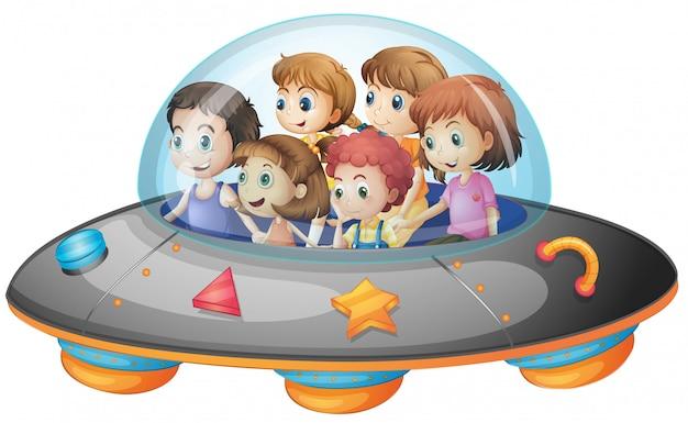 Crianças na nave espacial