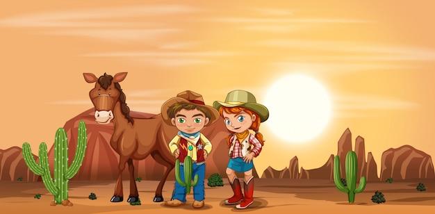 Crianças no deserto