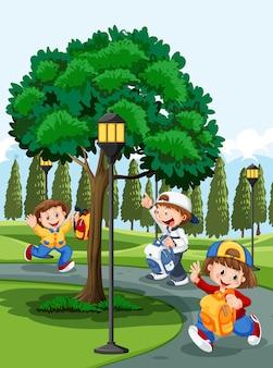 Crianças no parque