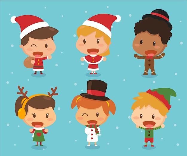 Crianças no tema de natal.