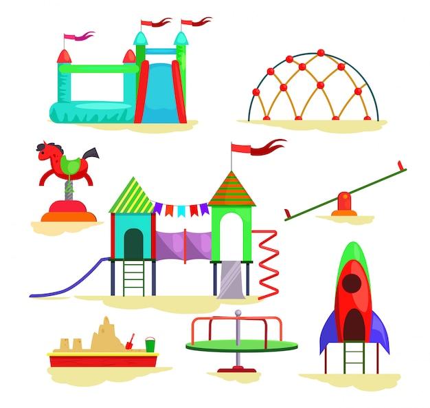 Crianças, pátio recreio, ícones
