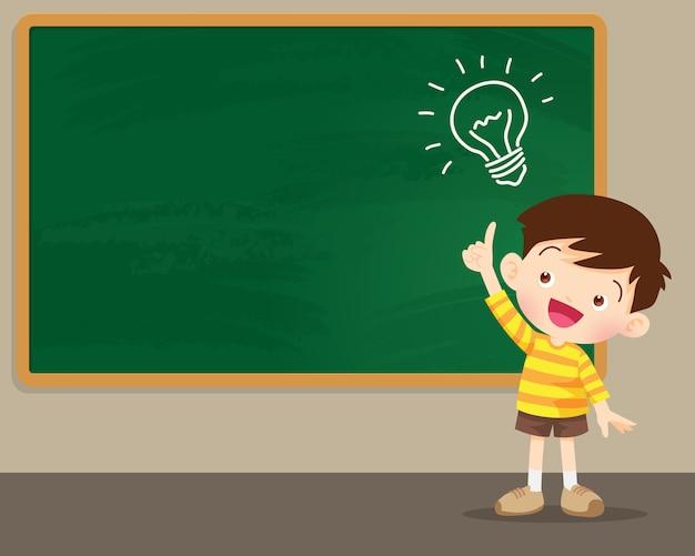 Crianças, pensando, idéia