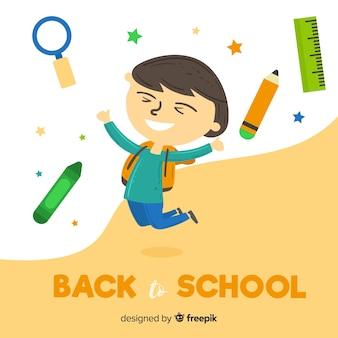 Crianças planas de volta à escola