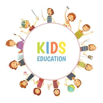 Crianças primárias do ensino fundamental e médio
