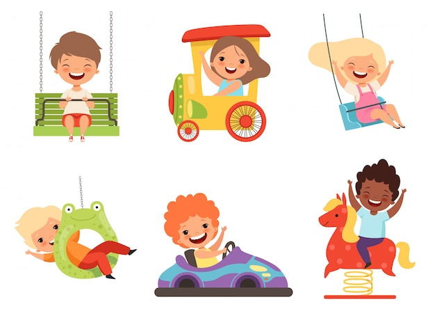 Crianças se divertindo conjunto