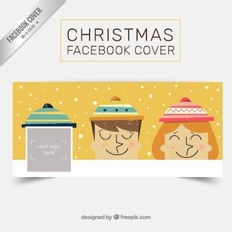 Crianças tampa facebook natal do vintage