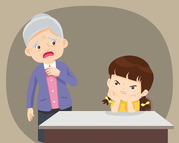 Crianças teimosas versus idosos