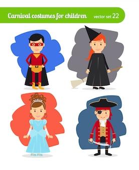 Crianças vestindo trajes