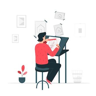 Criar ilustração do conceito