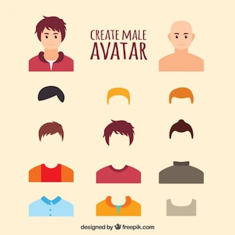 Criar masculino avatar