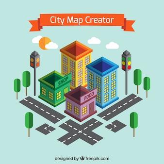 Criar um mapa da cidade na vista isométrica