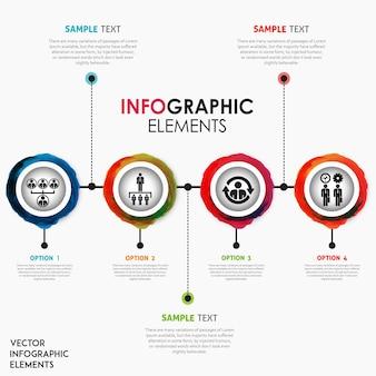Criativa aquarela splatter infográfico design