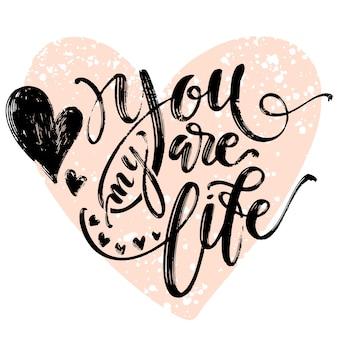 Criativa artística mão desenhada cartão. modelo de amor.