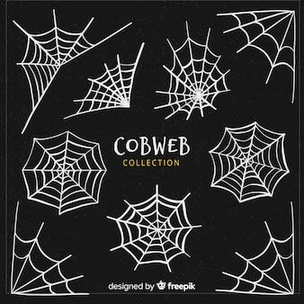Criativa coleção de teia de aranha do dia das bruxas