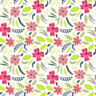 Criativa floral sem costura de fundo com flores
