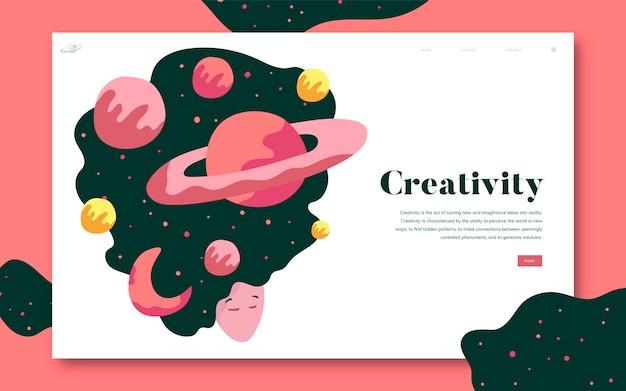 Criatividade e espaço gráfico do site