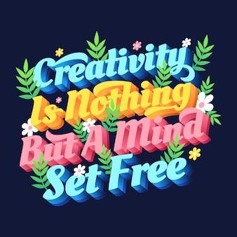 Criatividade é nada mente é cartaz grátis