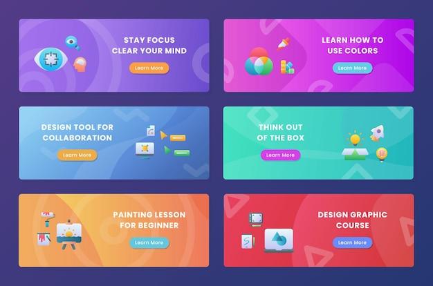 Criatividade, mantenha o foco em seu pacote de coleção de mentalidade