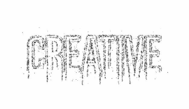 Criativo caligráfico partícula texto banner cartaz ilustração vetorial design.